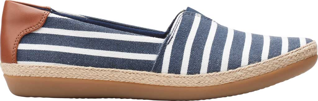 Women's Clarks Danelly Sky Espadrille Flat, Navy Combination Textile/Synthetic, large, image 2