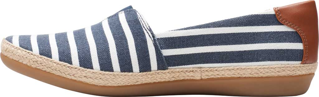 Women's Clarks Danelly Sky Espadrille Flat, Navy Combination Textile/Synthetic, large, image 3