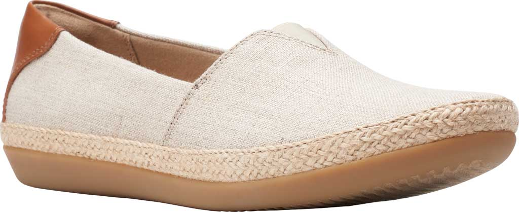 Women's Clarks Danelly Sky Espadrille Flat, Natural Textile/Synthetic Combination, large, image 1