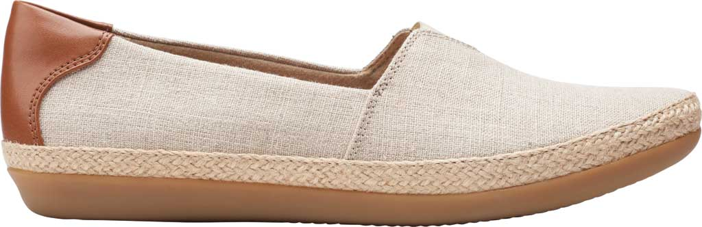 Women's Clarks Danelly Sky Espadrille Flat, Natural Textile/Synthetic Combination, large, image 2