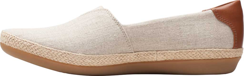 Women's Clarks Danelly Sky Espadrille Flat, Natural Textile/Synthetic Combination, large, image 3