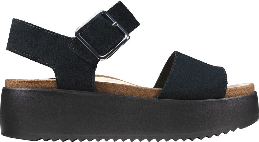 Women's Clarks Botanic Strap Platform Sandal, Black Suede, large, image 2