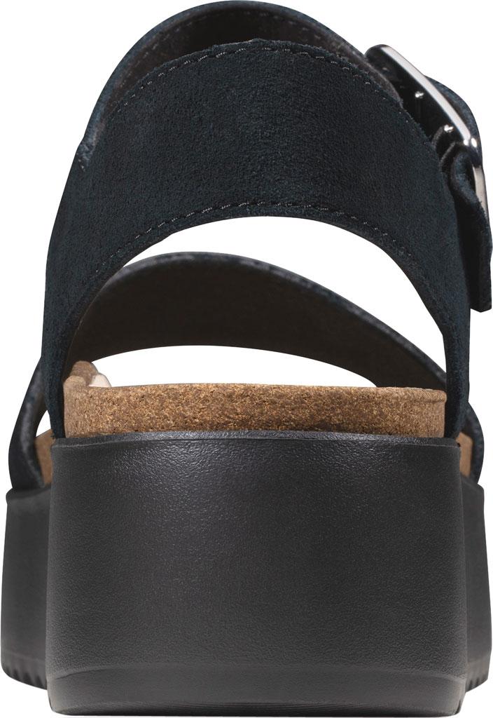Women's Clarks Botanic Strap Platform Sandal, Black Suede, large, image 4