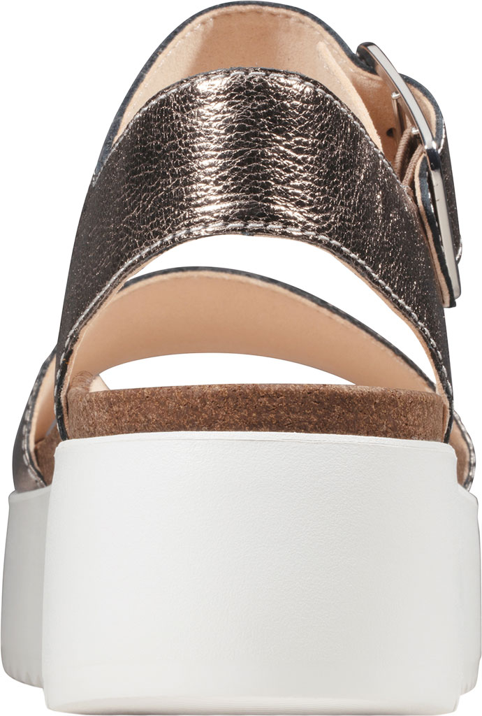 Women's Clarks Botanic Strap Platform Sandal, Stone Metallic Leather, large, image 4