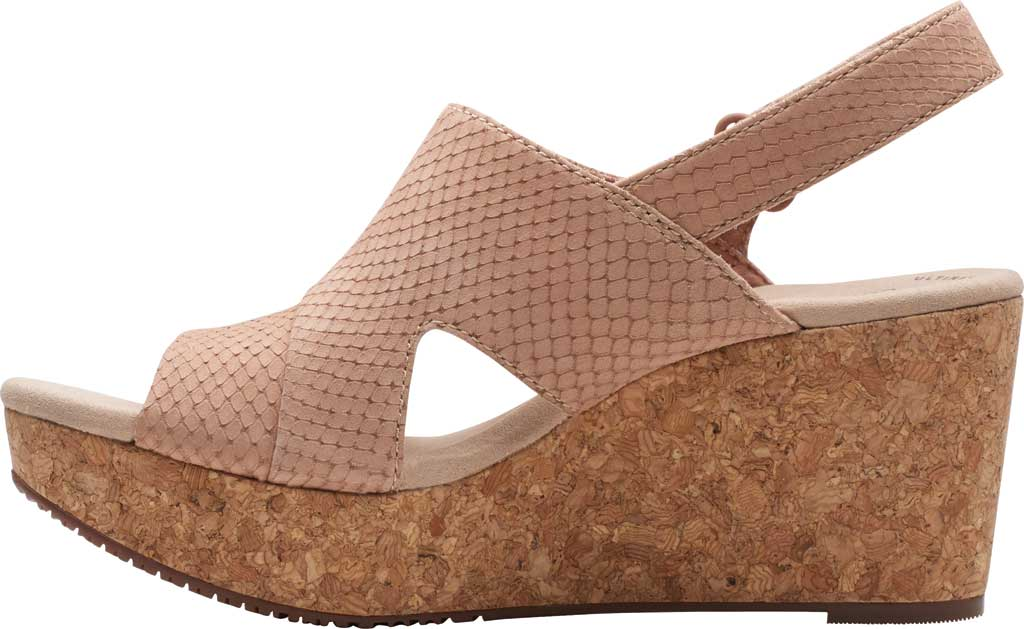 Women's Clarks Annadel Sky Wedge Sandal, Blush Interest Nubuck, large, image 3