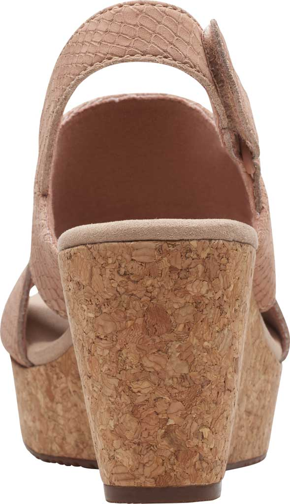 Women's Clarks Annadel Sky Wedge Sandal, Blush Interest Nubuck, large, image 4