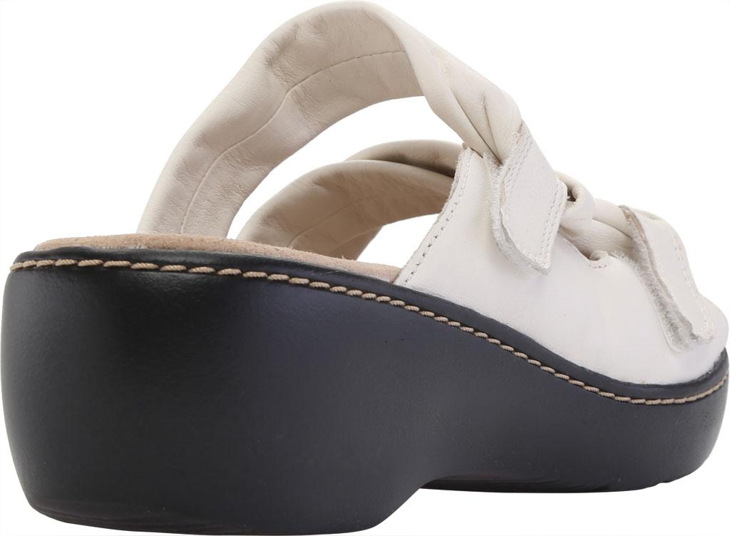 Women's Clarks Delana Jazz Slide, White Full Grain Leather, large, image 4
