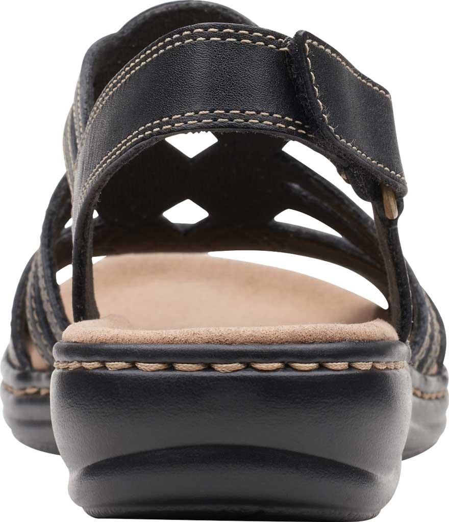 Women's Clarks Leisa Janna Slingback Sandal, Black Leather, large, image 4