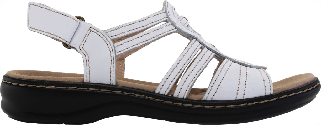 Women's Clarks Leisa Janna Slingback Sandal, White Full Grain Leather, large, image 2