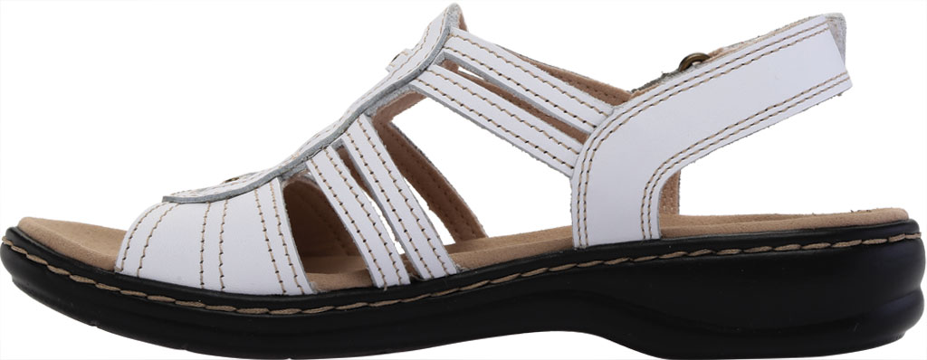 Women's Clarks Leisa Janna Slingback Sandal, White Full Grain Leather, large, image 3