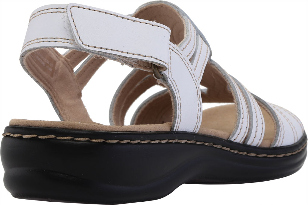 Women's Clarks Leisa Janna Slingback Sandal, White Full Grain Leather, large, image 4