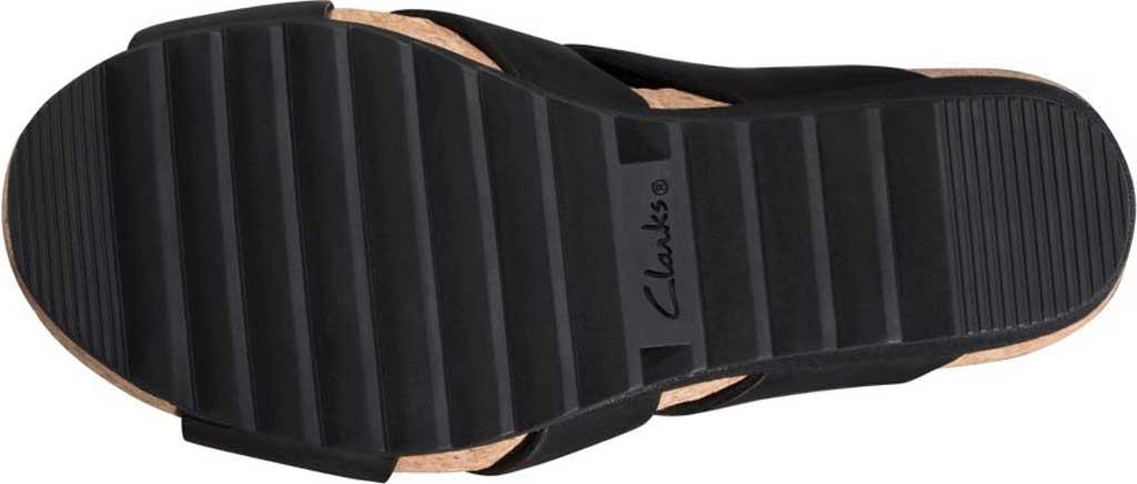 Women's Clarks Flex Sun Wedge Sandal, Black Leather, large, image 6