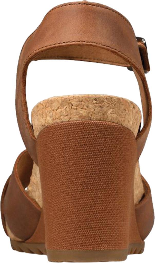 Women's Clarks Flex Sun Wedge Sandal, Tan Leather, large, image 4