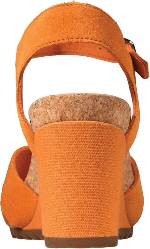 Women's Clarks Flex Sun Wedge Sandal, Amber Suede, large, image 4