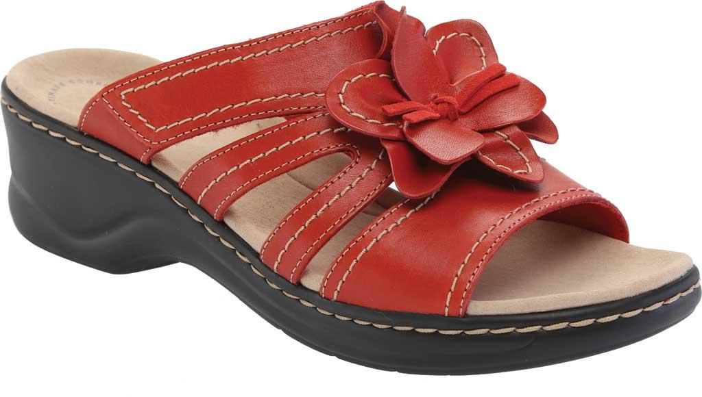 Women's Clarks Lexi Opal Slide, Red Full Grain Leather, large, image 1