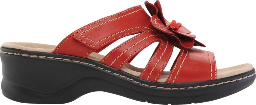 Women's Clarks Lexi Opal Slide, Red Full Grain Leather, large, image 2