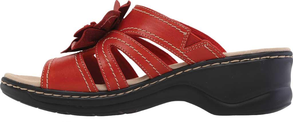 Women's Clarks Lexi Opal Slide, Red Full Grain Leather, large, image 3