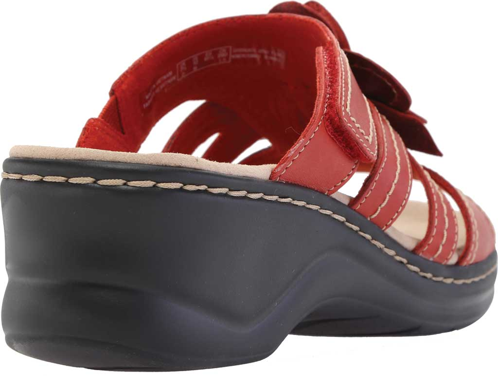 Women's Clarks Lexi Opal Slide, Red Full Grain Leather, large, image 4