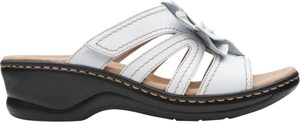 Women's Clarks Lexi Opal Slide, White Full Grain Leather, large, image 2