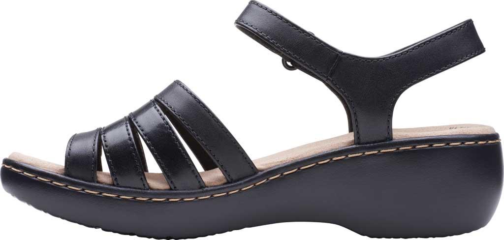 Women's Clarks Delana Brenna Strappy Sandal, Black Full Grain Leather, large, image 3