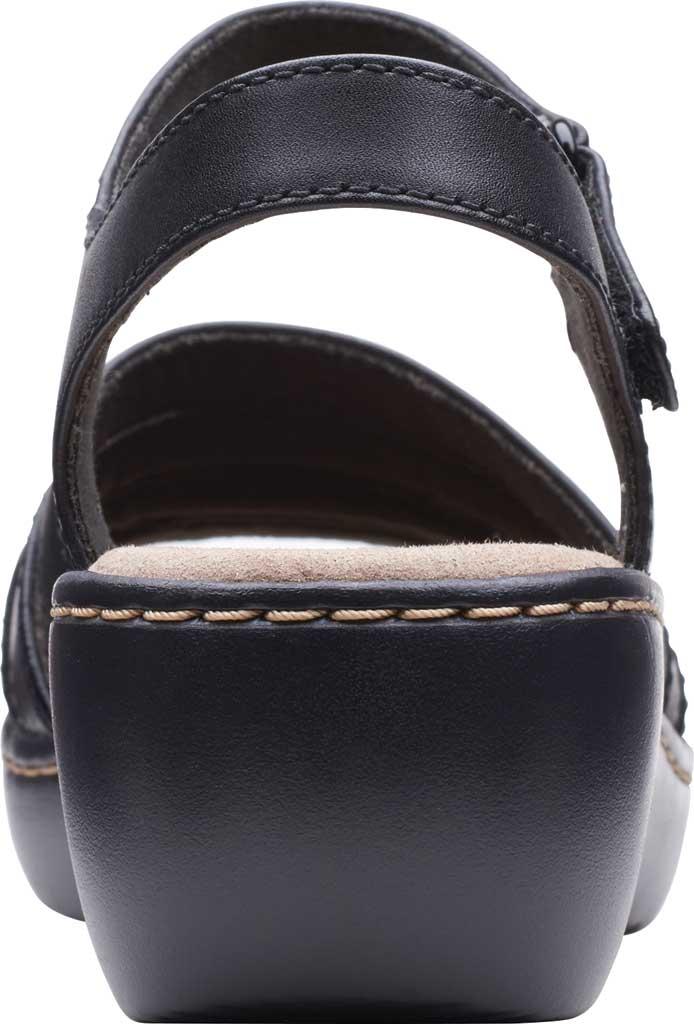 Women's Clarks Delana Brenna Strappy Sandal, Black Full Grain Leather, large, image 4