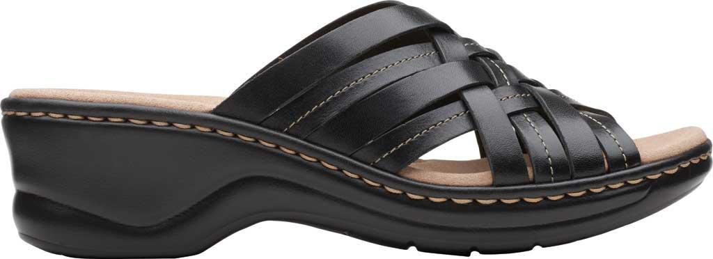 Women's Clarks Lexi Selina Slide, Black Full Grain Leather, large, image 2