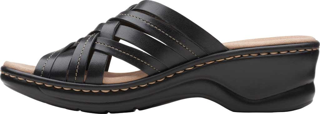 Women's Clarks Lexi Selina Slide, Black Full Grain Leather, large, image 3
