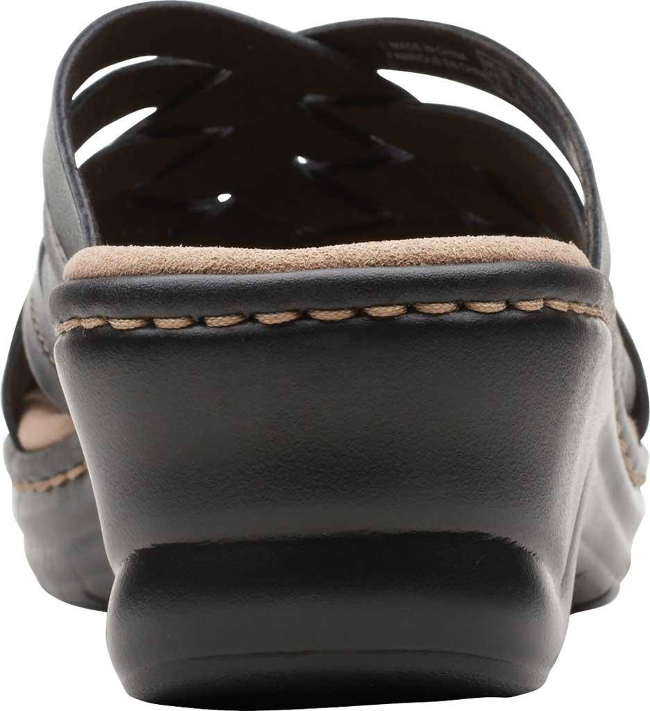 Women's Clarks Lexi Selina Slide, Black Full Grain Leather, large, image 4