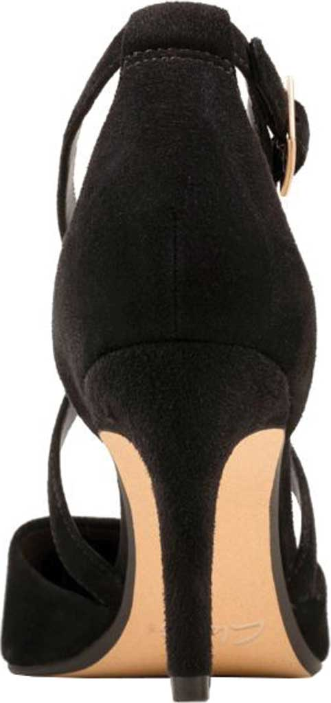 Women's Clarks Laina85 Cross Stiletto, Black Suede, large, image 4