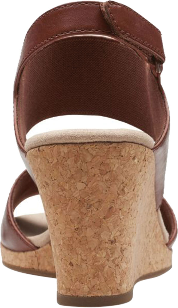 Women's Clarks Lafley Lily Wedge Sandal, Tan Leather, large, image 4