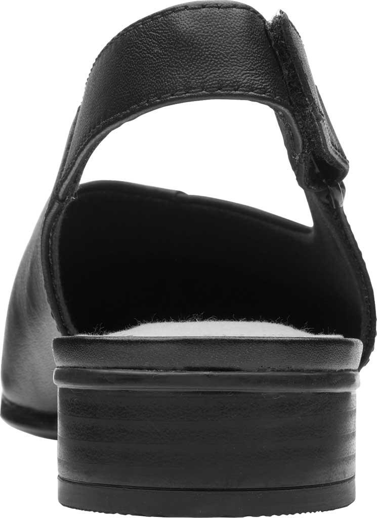 Women's Clarks Juliet Pull Slingback, Black Leather, large, image 4