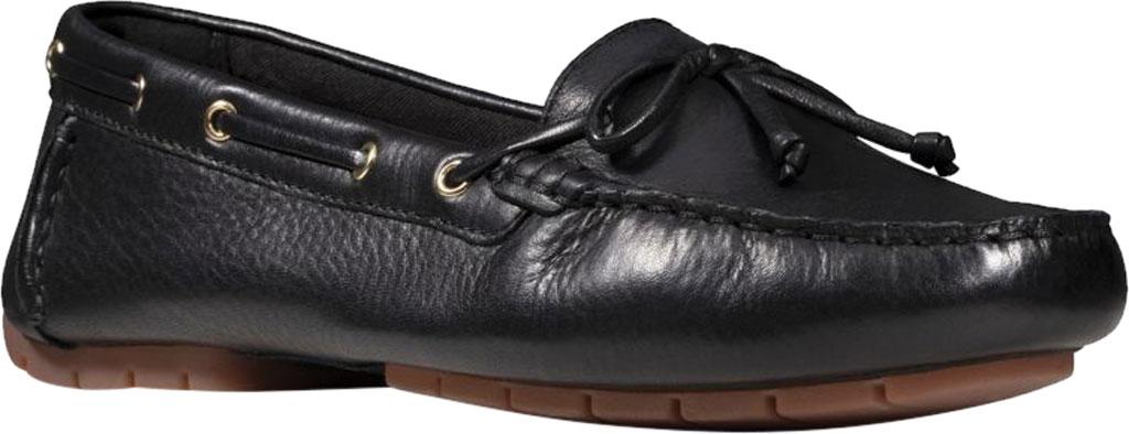 Women's Clarks C Mocc Boat Shoe, Black Full Grain Leather, large, image 1