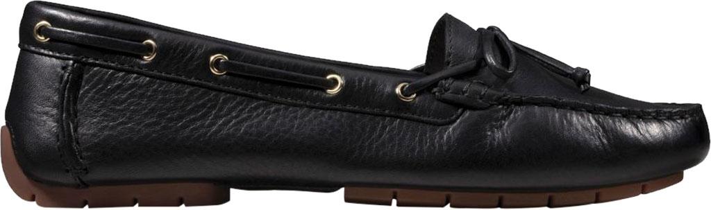 Women's Clarks C Mocc Boat Shoe, Black Full Grain Leather, large, image 2