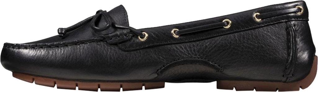Women's Clarks C Mocc Boat Shoe, Black Full Grain Leather, large, image 3