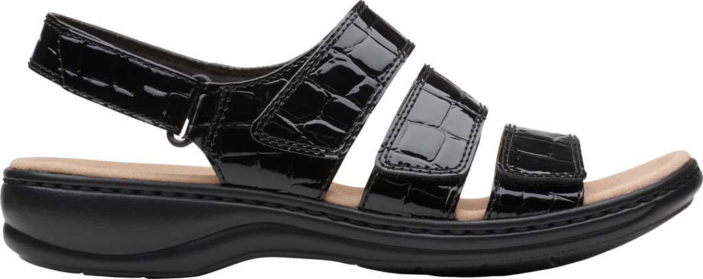 Women's Clarks Leisa Melinda Slingback Sandal, Black Patent Croco Leather, large, image 2