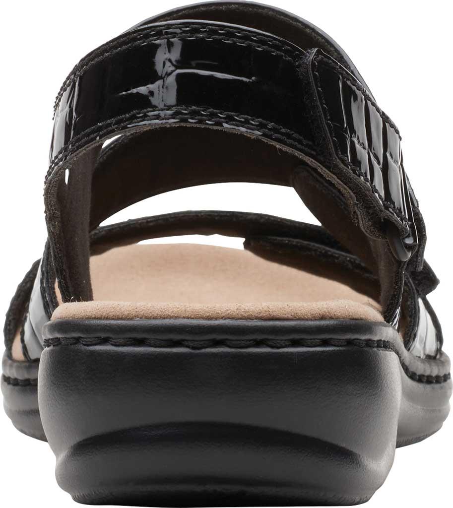 Women's Clarks Leisa Melinda Slingback Sandal, Black Patent Croco Leather, large, image 4