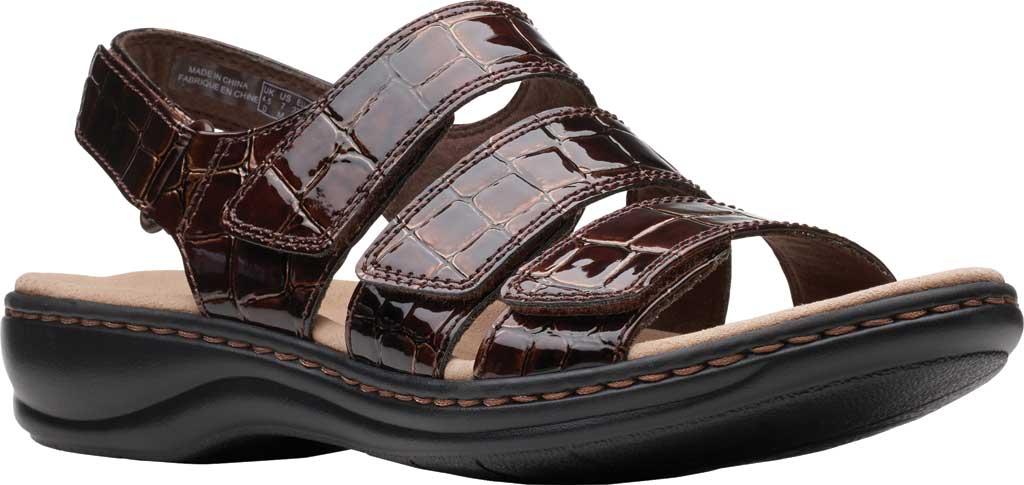 Women's Clarks Leisa Melinda Slingback Sandal, Brown Patent Croco Leather, large, image 1