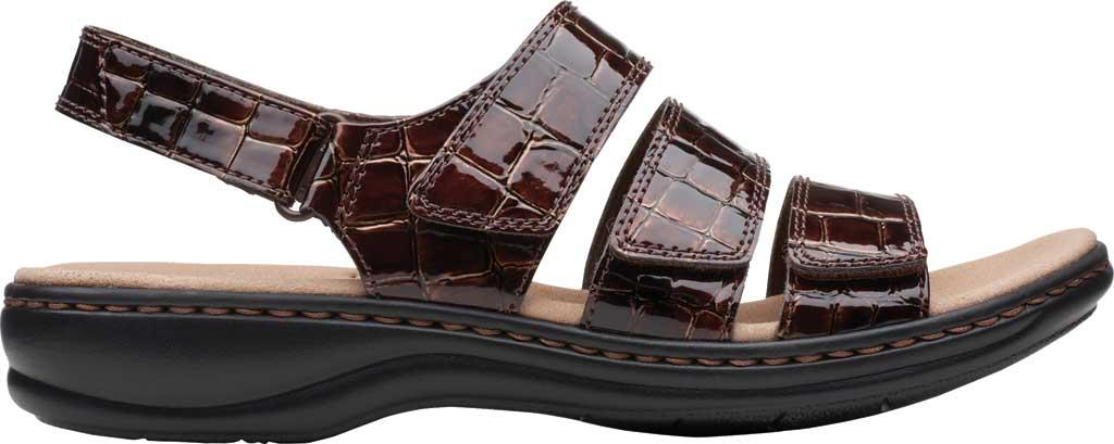 Women's Clarks Leisa Melinda Slingback Sandal, Brown Patent Croco Leather, large, image 2