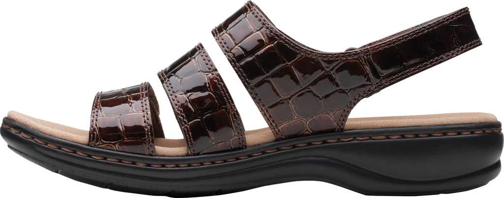 Women's Clarks Leisa Melinda Slingback Sandal, Brown Patent Croco Leather, large, image 3