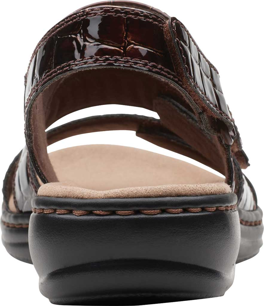 Women's Clarks Leisa Melinda Slingback Sandal, Brown Patent Croco Leather, large, image 4