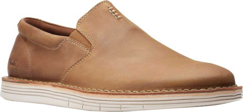 Men's Clarks Forge Free Loafer, Tan Leather, large, image 1
