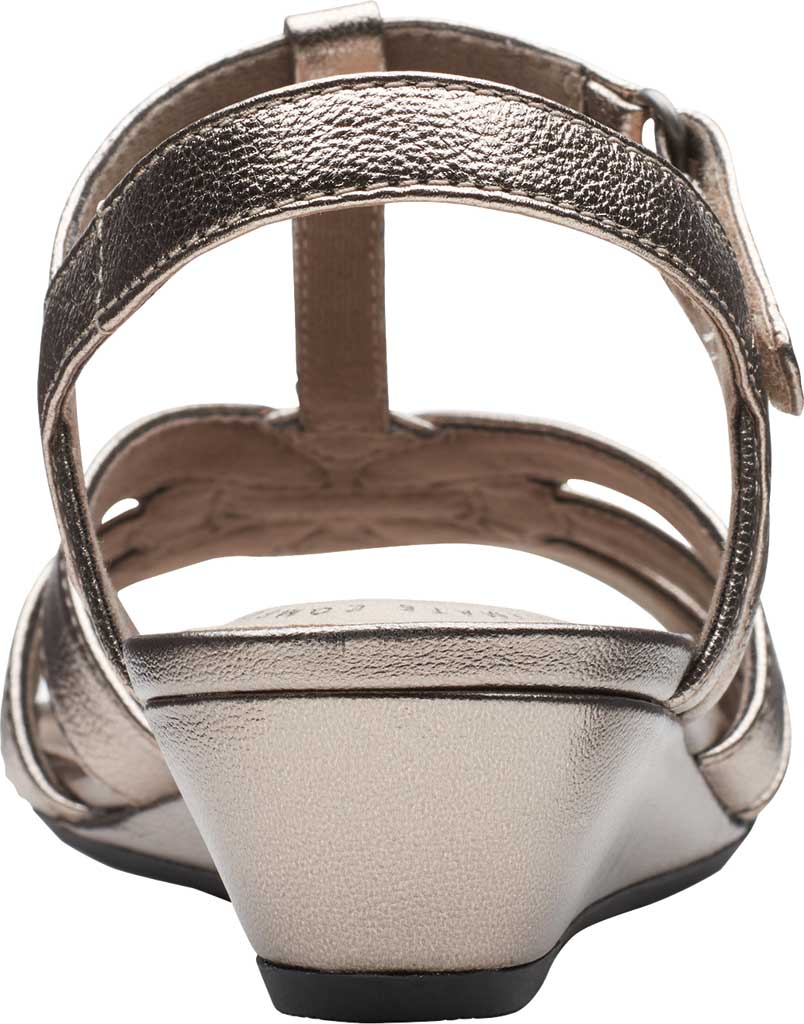 Women's Clarks Abigail Daisy Wedge Sandal, Metallic Multi Full Grain Leather, large, image 4