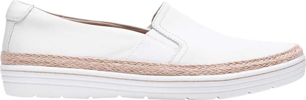 Women's Clarks Marie Sail Slip On Sneaker, White Leather, large, image 1