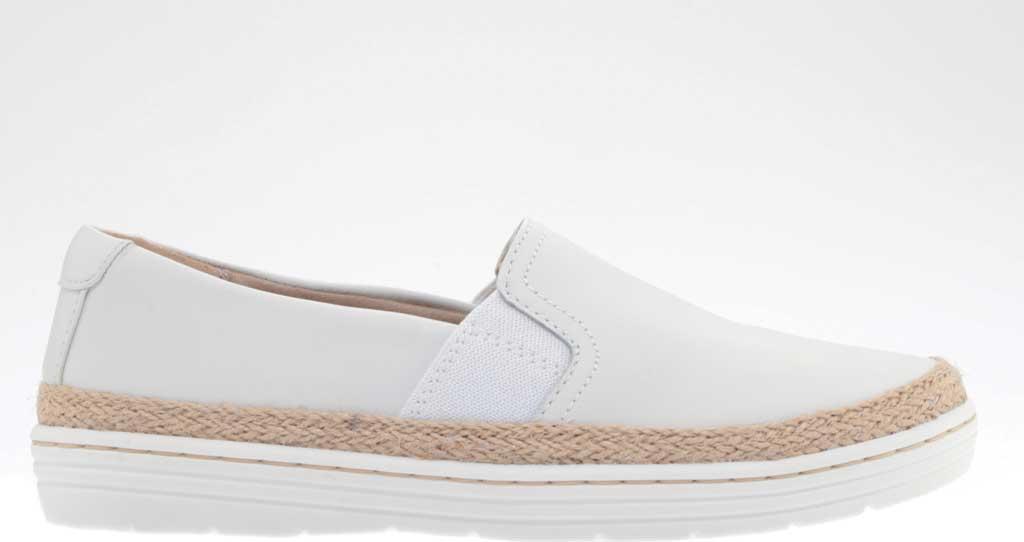 Women's Clarks Marie Sail Slip On Sneaker, White Leather, large, image 2