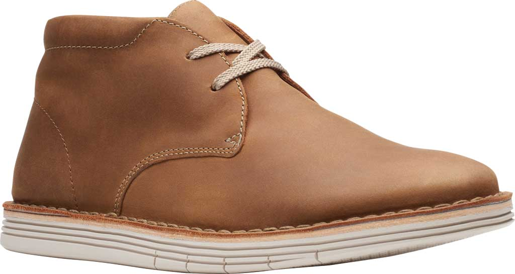 Men's Clarks Forge Stride Chukka Boot, Tan Leather, large, image 1