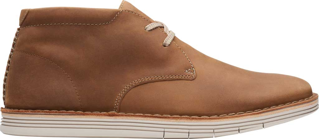 Men's Clarks Forge Stride Chukka Boot, Tan Leather, large, image 2