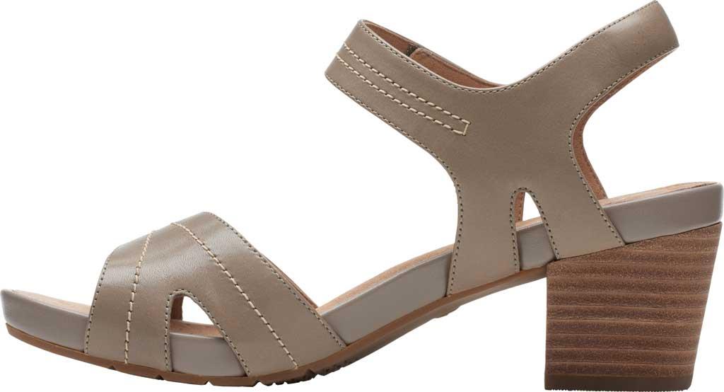 Women's Clarks Un Palma Vibe Heeled Sandal, Taupe Leather, large, image 3