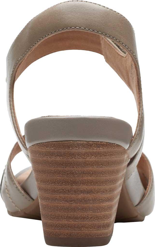 Women's Clarks Un Palma Vibe Heeled Sandal, Taupe Leather, large, image 4