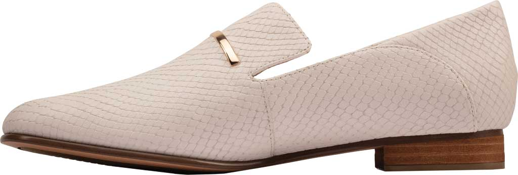 Women's Clarks Pure Viola Trim Loafer, White Snake Leather, large, image 3