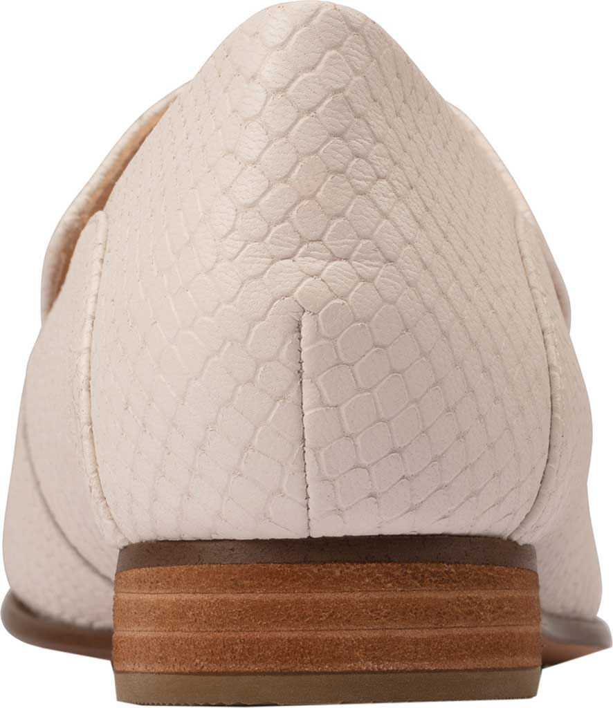 Women's Clarks Pure Viola Trim Loafer, White Snake Leather, large, image 4